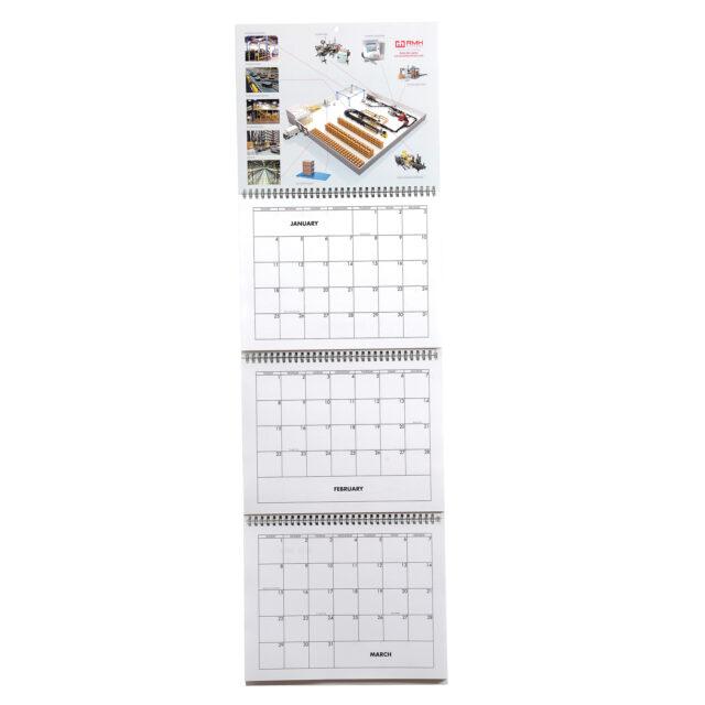 Four Panel Calendar Full View