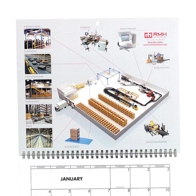 Four Panel Calendar Close Up