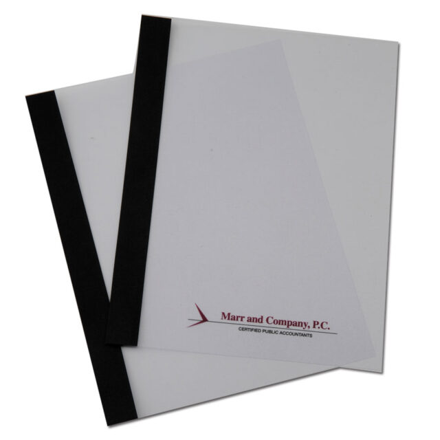 Clear Report Cover With Paper Spine