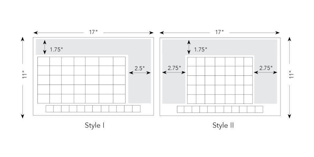 Junior Size Calendar Formats