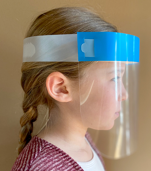 Kids Face Shield Side View