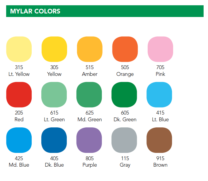 Mylar Colors