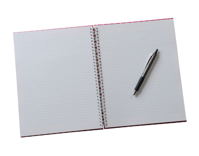 Personalized Wire Bound Journal Open