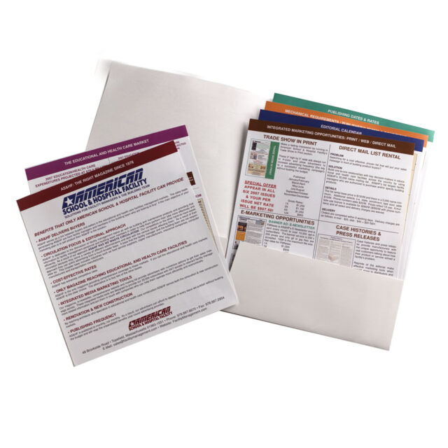 Staggered Sheets for Pocket Folders