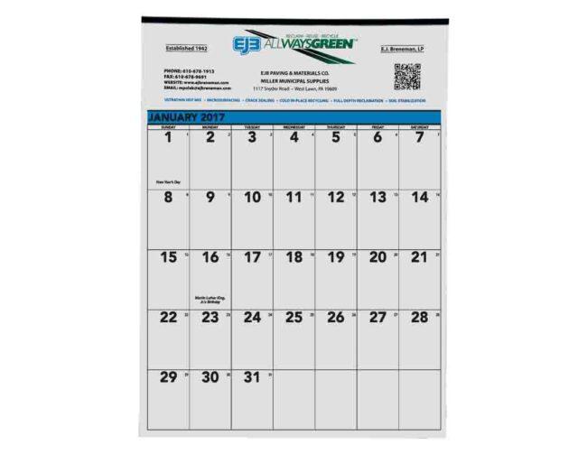 Tinned Wall Calendar